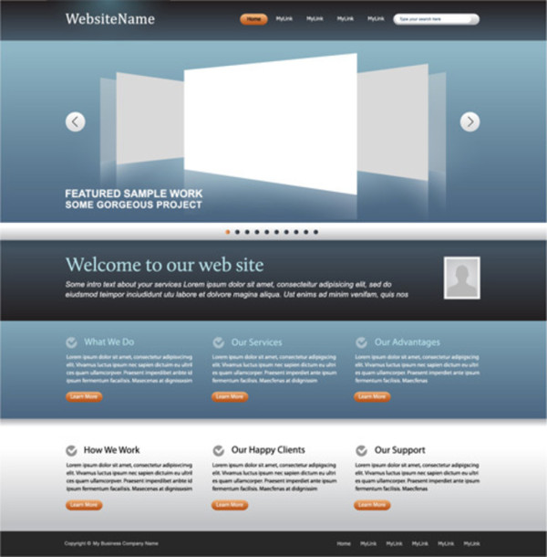 superb web design template