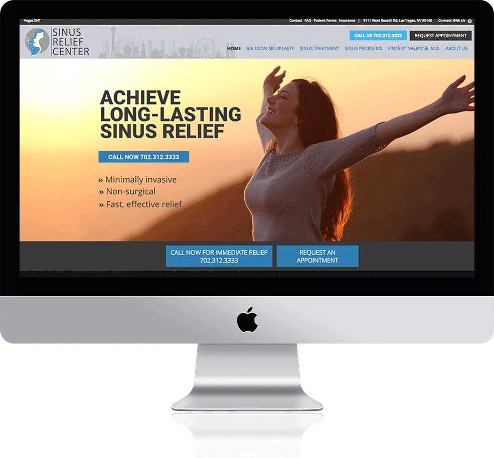 sinus relief center on a mac